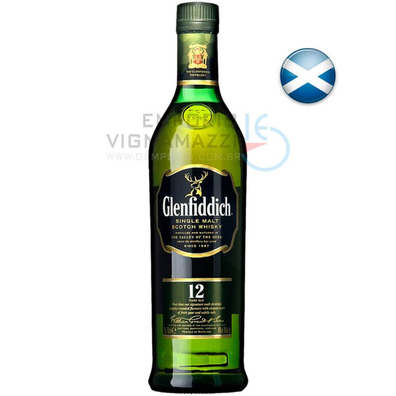 Foto Whisky Glenfiddich 12 Anos 750ml