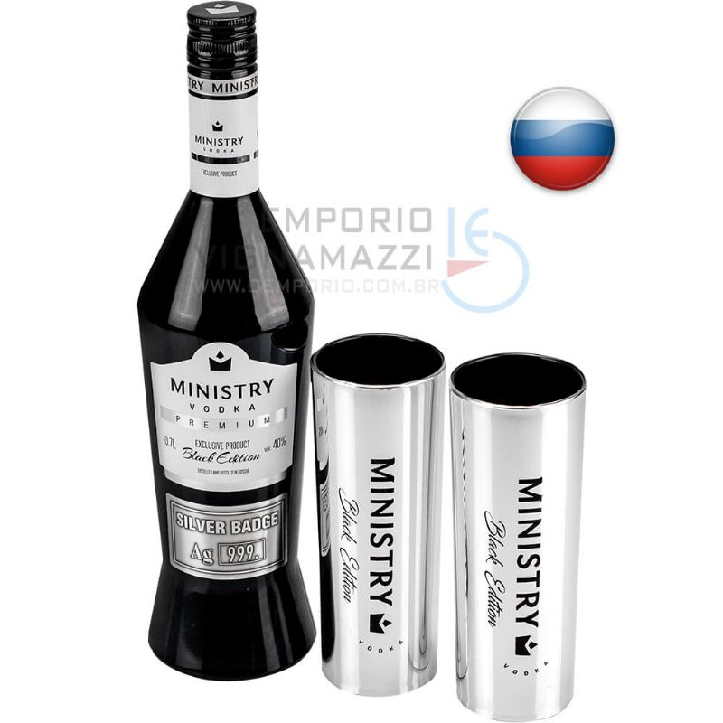 Foto Kit Vodka Ministry Premium Black Edition 700ml