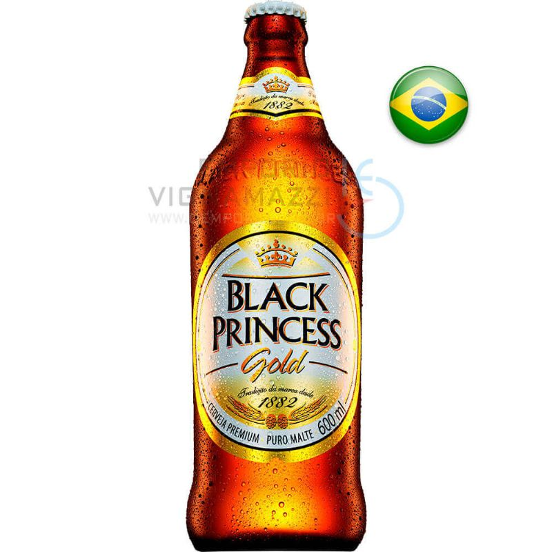 Foto Cerveja Black Princess Gold 600ml