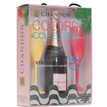 Foto Kit Chandon Colors Collection Brut Rose c/ 2 taças coloridas
