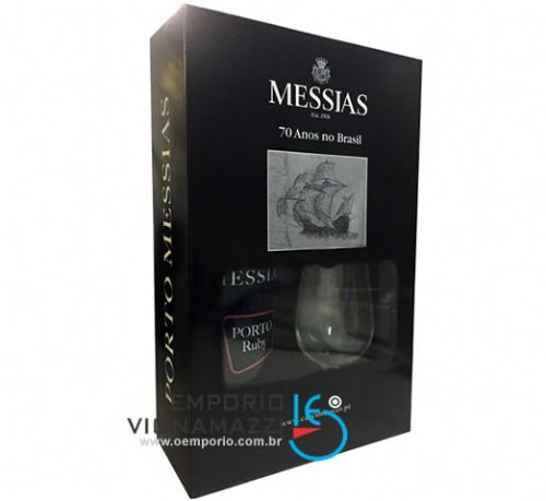 Foto Kit Vinho do Porto Messias Tawny com 1 Taça