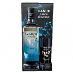 Foto Kit Nacional Vodka Svarov Original c/ Copo 1L
