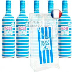 Foto Kit 5 Garrafas de Vinho Rose Piscine Vinovalie 750ml + Ice Bag