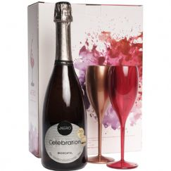 Foto Kit Espumante Ponto Nero Celebration Moscatel com 2 Taças