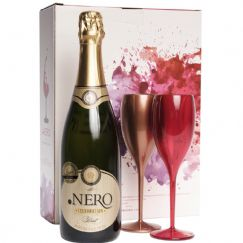 Foto Kit Espumante Ponto Nero Celebration Brut com 2 Taças