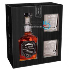 Foto Kit Whisky Jack Daniels Single Barrel 750ml 2 Copos